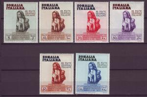 J21264 Jlstamps 1934 italy somalia set mh/mhr #164-9 mother and child