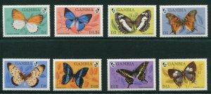 Gambia, Scott 1567-74 Butterflies, 1994, Mint NH