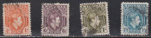 NIGERIA Scott # 59-62 Used - KGVI Definitives