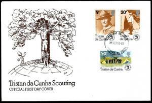 Tristan da Cunha– 1982 75th Anniversary of the Scouting FDC