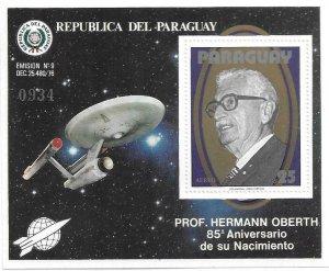 1979   PARAGUAY  -  PROFESSOR HERMANN OBERTH  -    MNH