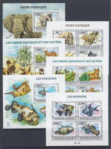 Burundi Sc 1381-1430 MNH. 2013 Brasiliana PHILEX, complete set of 50 s/s, VF