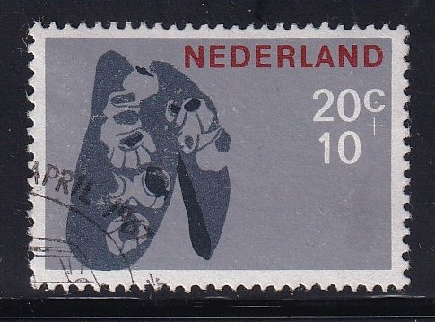 Netherlands  #B421  used  1967  cultural welfare  20c  mussel