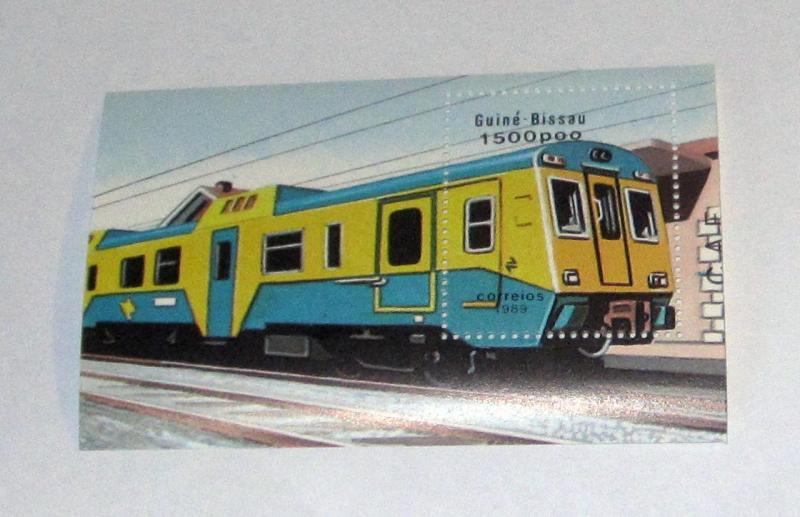 Guinea Bissau - 802, MNH S/S. Train. SCV - $5.75
