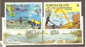 Norfolk Is.  Scott #471-474  Mint NH  Scott CV $10.75