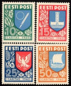 Estonia Scott B46-B49 Mint never hinged.