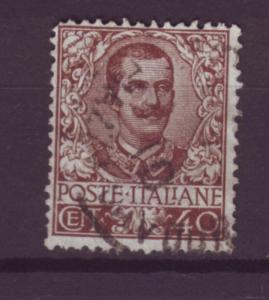 J516 jl,s stamps 1901-26 italy better 40c brown scv $9.50