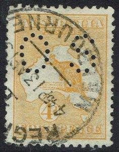 AUSTRALIA 1914 KANGAROO OS 4D USED