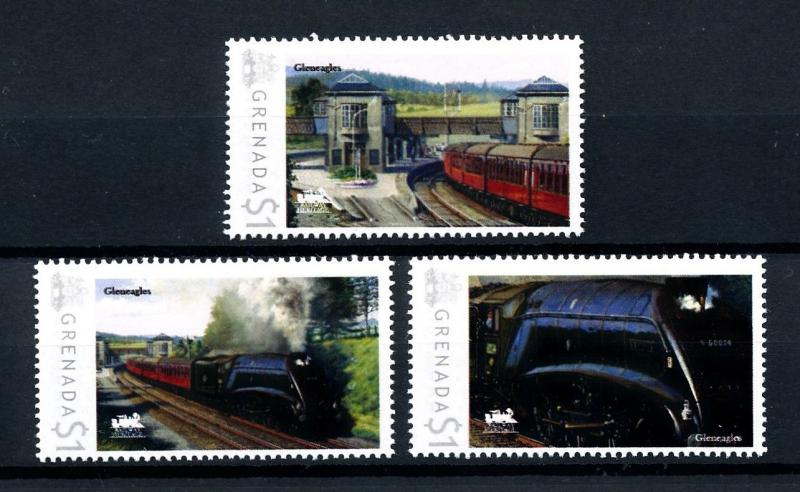 [93106] Grenada 2009 Railway Train Eisenbahn Gleneagles  MNH