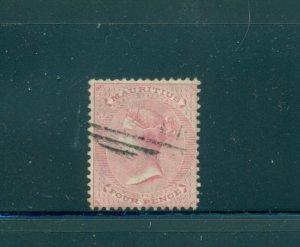 Mauritius - Sc# 35. 1863 4p Victoria. Used. $4.00.