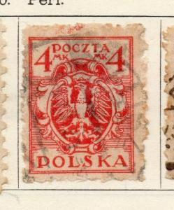 Poland 1920-21 Early Issue Fine Used 4m. 309732