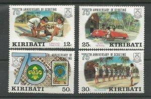 1982 Kiribati Scouts 75th anniversary 'SPECIMEN'