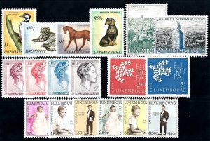 Luxembourg Luxemburg 1961 Complete Year Set MNH
