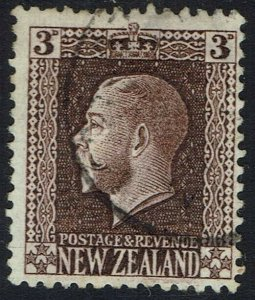 NEW ZEALAND 1915 KGV 3D WMK SIDEWAYS USED