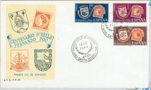 63329 -  SPANISH Fernando Poo - POSTAL HISTORY -  FDC Cover 1968 STAMP CENTENARY