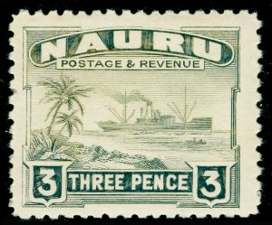 NAURU SG31B, 3d greenish grey, NH MINT.