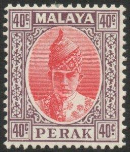 PERAK-1938-41 40c Scarlet & Dull Purple Sg 117 MOUNTED MINT V45250