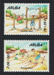 Aruba 'Solidarity' 2v issue 2000 SG#280-281