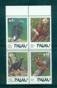 Palau - Sc# 207a. 1989 Birds.  MNH Block of 4. $4.00.
