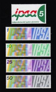 IPSA INDEPENDENT POSTAL SYSTEM OF AMERICA SET OF 5 MNH-OG 1973