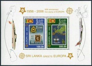 Sri Lanka 1540a sheet,MNH. Europa CEPT stamps,50th Ann.Flag & stamps.