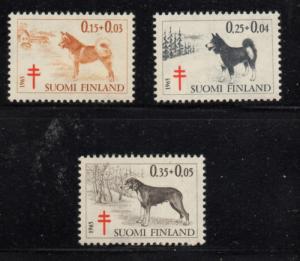 Finland Sc B173-5 1965  Anti TB Dogs atamp set mint NH