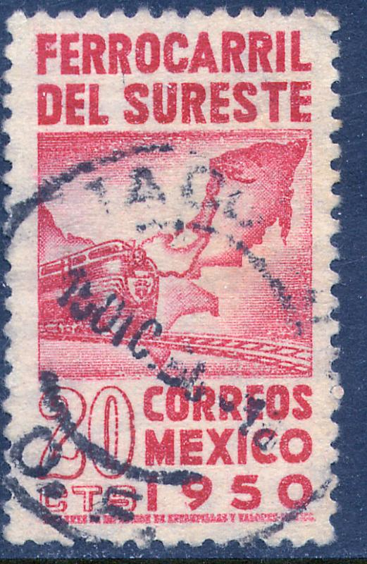 MEXICO 871, 20c Opening of Southeastern Railroad. Used (485)