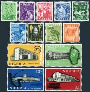 Nigeria 101-113,hinged. 1961.Peanut,Miner,Weaver,Hornbill,Camel,Kano Airport.