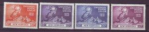 J22109 Jlstamps 1949 new hebrides set mh #79-82 upu
