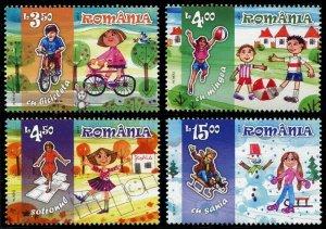 HERRICKSTAMP NEW ISSUES ROMANIA Sc.# 5954-57 Children's Games (Drawings)