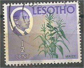 LESOTHO, 1967, used 1/2c, King Moshoeshoe, Scott 25