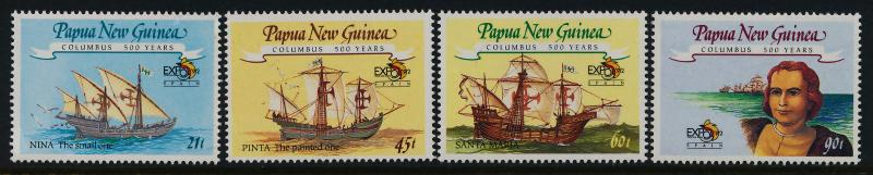 Papua New Guinea 782-5 MNH Christopher Columbus, Ships
