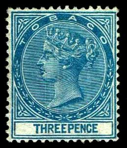 1879 Tobago #2 Queen Victoria Watermark 1 - OGNH - VF/XF - CV $145.00 (ESP#3251)