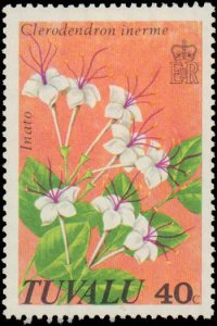 Tuvalu #92-95, Complete Set(4), 1978, Flowers, Never Hinged