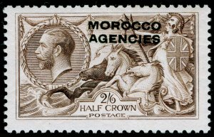 MOROCCO AGENCIES SG53, 2s 6d chocolate-brown, LH MINT. Cat £50.