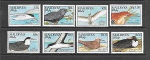 BIRDS - MALDIVES #1421-8  MNH