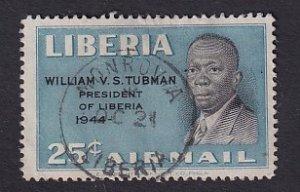 Liberia  #325   used   1948  Liberian presidents  25c