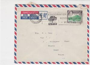 Rhodesia and Nyasaland 1963 Airmail Machine Slogan Stamps Cover to EnglandR18131