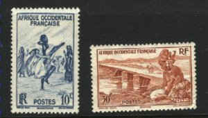 French West Africa 36,37   Mint VF 1947 PD