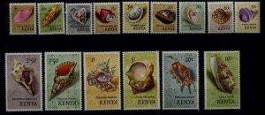 Kenya 36-50 MNH Shells SCV20.20