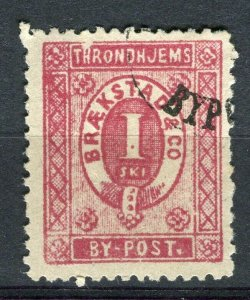 NORWAY; 1880s classic Throndhjems Bypost local issue used value