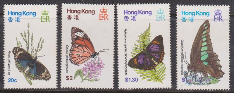 Hong Kong - 1979 Butterflies VF-NH #354-357