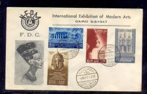 EGYPT -1947 International Exhibition of Fine Arts First Day Cover 2