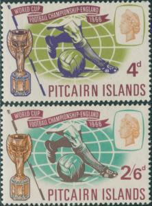 Pitcairn Islands 1966 SG57-58 World Cup football set MNH