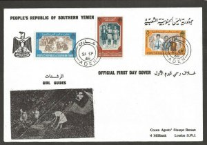 1968 South Yemen Girl Guides FDC