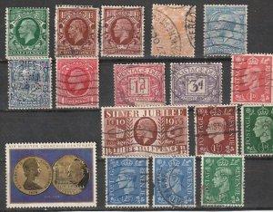 Great Britian Used George V,George VI ,QEII lot#100901-2