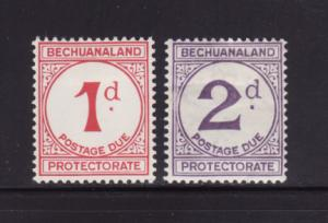 Bechuanaland Protectorate J5-J6 MHR Numerals, Postage Due