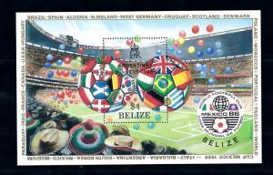 [60577] Belize 1986 World Cup Soccer Football Ovp Argentina winners MNH Sheet