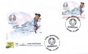 TURKISH NORTHERN CYPRUS/2020 (FDC) - UEFA Euro 2020 (Soccer), MNH