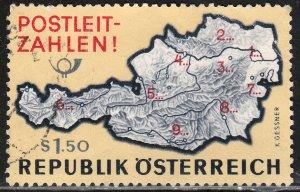 AUSTRIA 796, POSTAL ZONE NUMBERS. Used. F-VF. (320)
